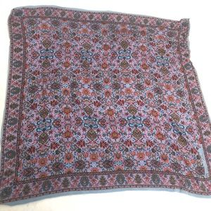 Anne Klein Scarf Traditional Indian Floral Pattern